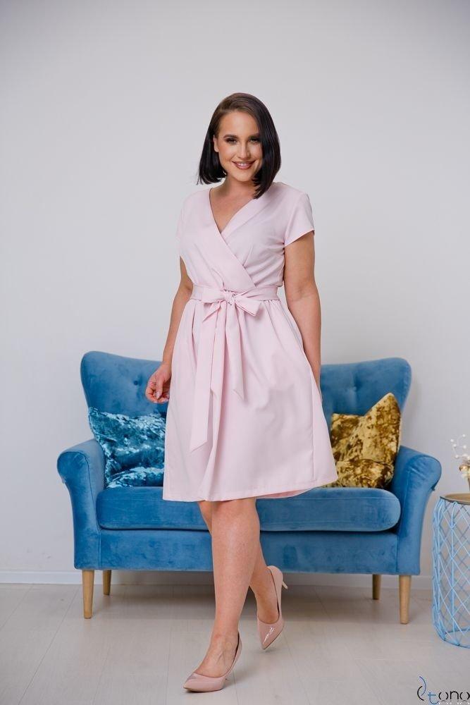 Powder pink Dress MACARIS Plus Size