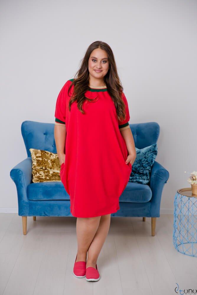 Red Dress SEPPI Plus Size Design 3