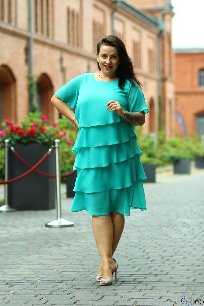 Smaragd Dress ORINA Plus Size