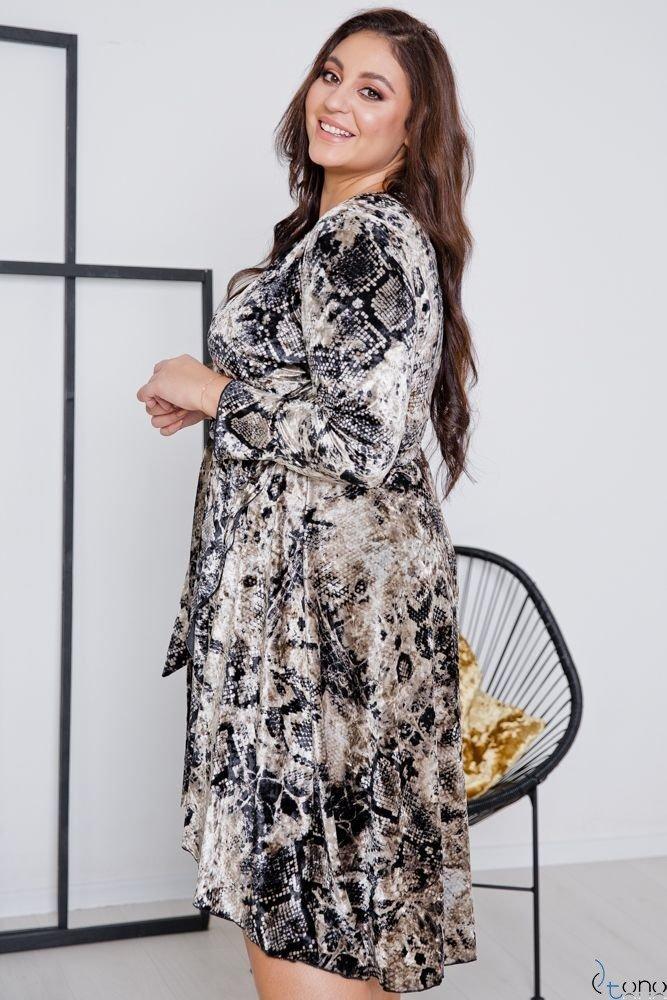 Beige-Black Dress RETTA Plus Size