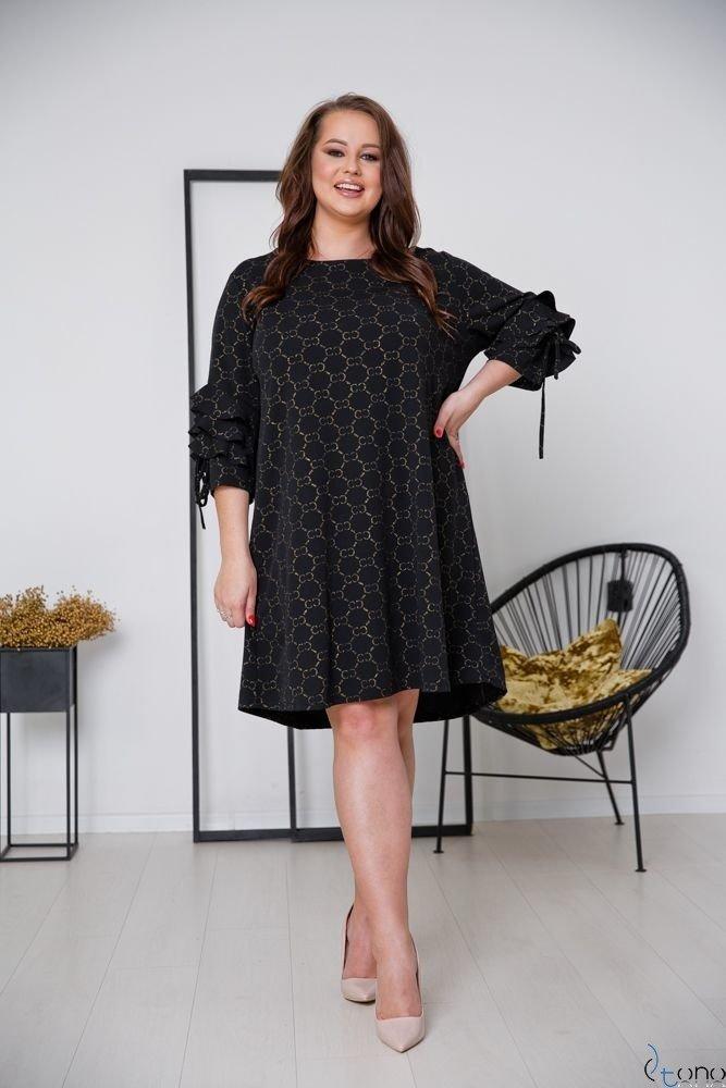 Black-Gold Dress CROEN Plus Size