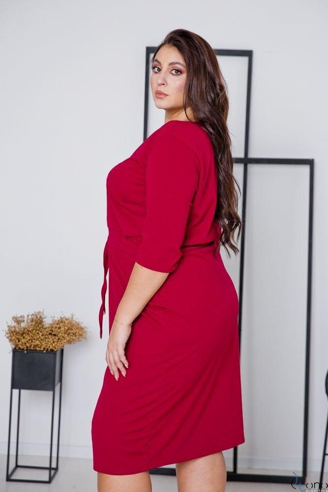 Claret Dress ELMIRA Plus Size