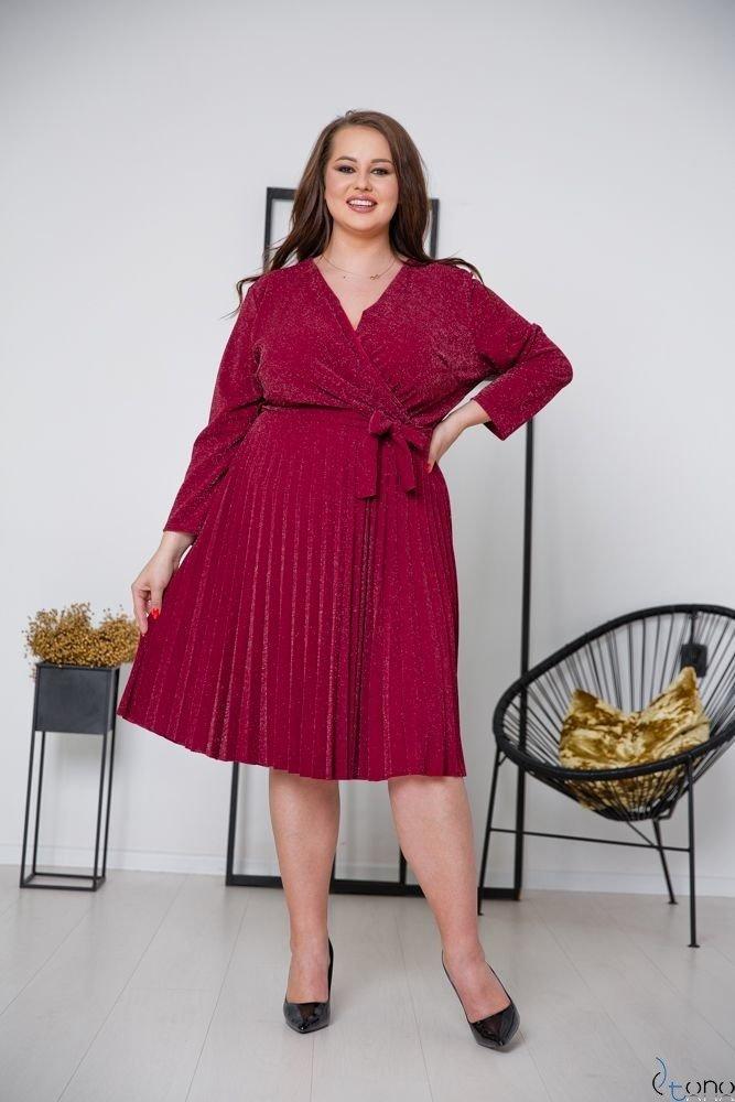 Claret Dress FELICE Plus Size