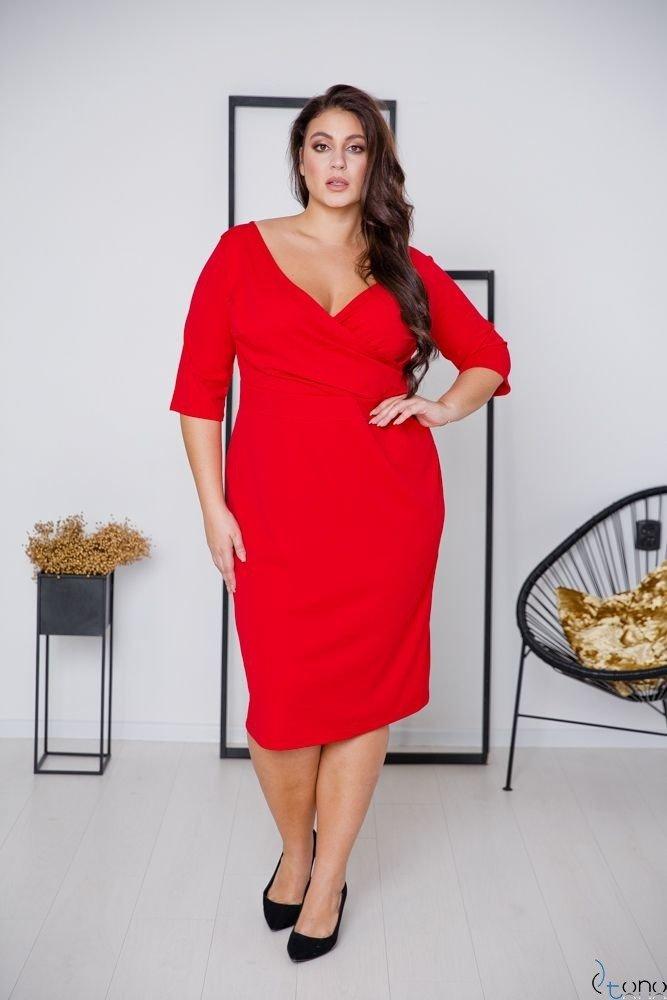 Red Dress GASPAR Plus Size