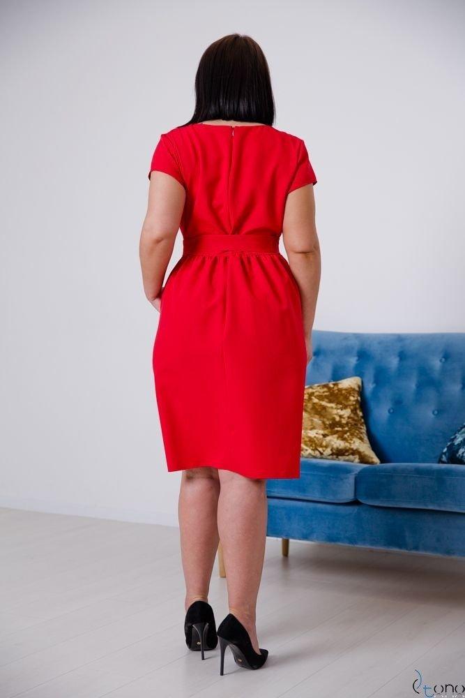 Red Dress MACARIS Plus Size