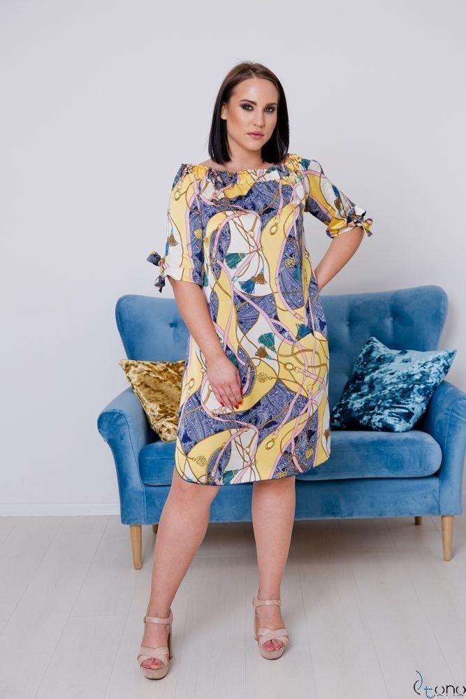Gold-pink Dress VALENCIA Plus Size