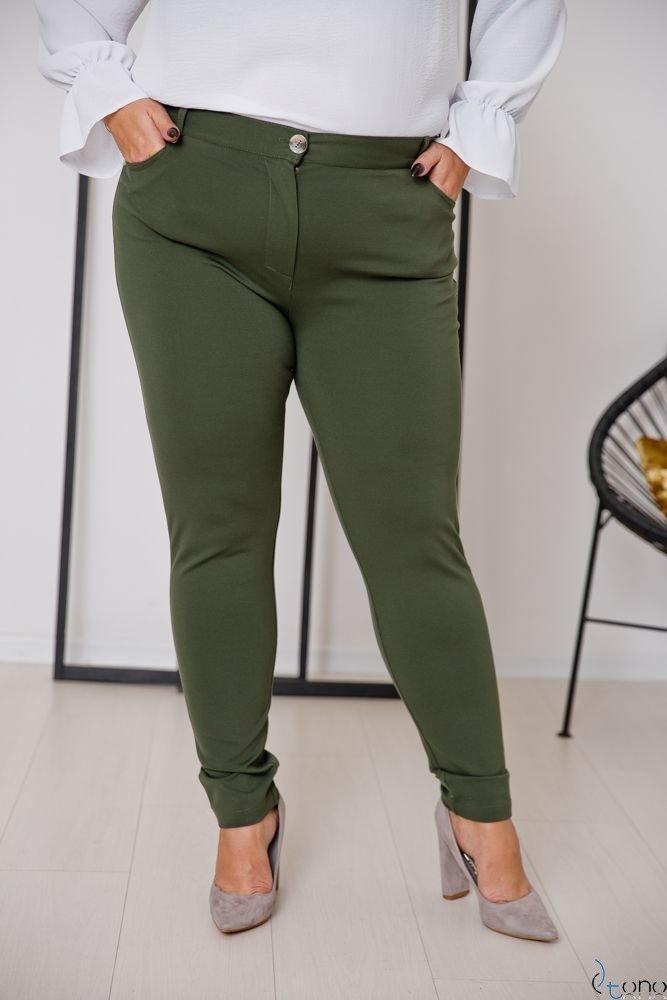 Khaki Trousers MIRELLA Plus Size