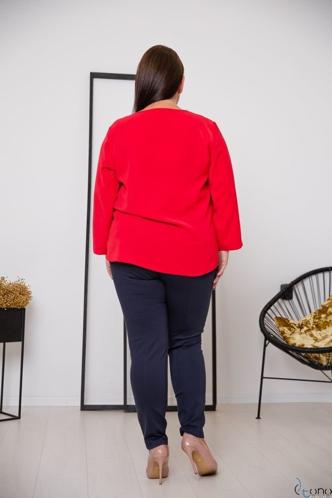 Red Blouse VERTER Plus Size