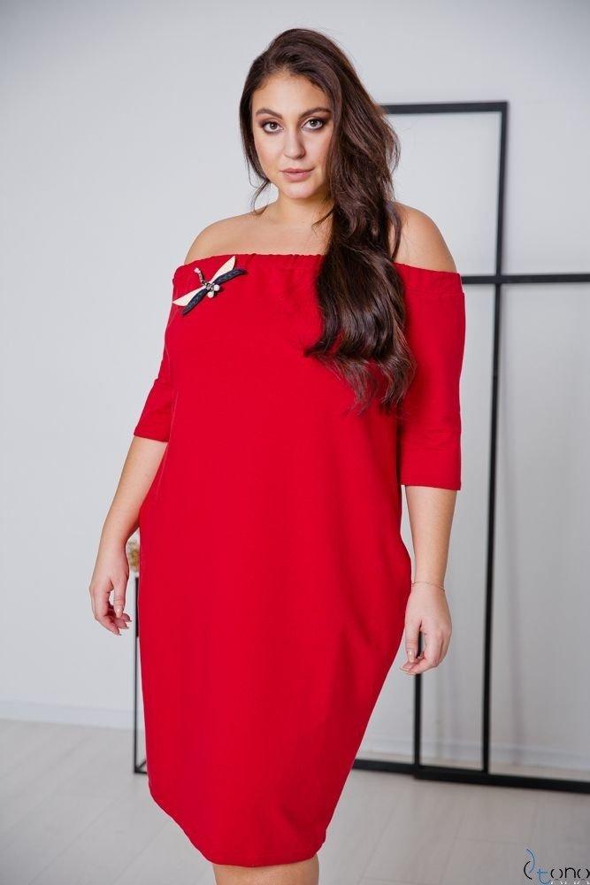 Red Dress ROSETTA Plus Size