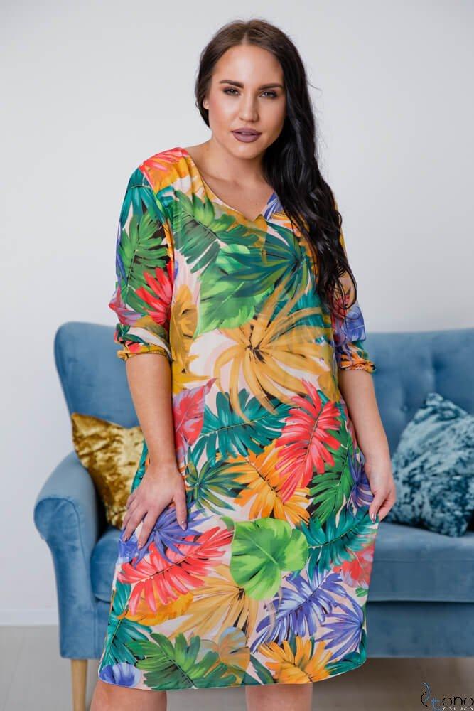 b059f0d7cc Multikolorowa Sukienka CAMPINA Plus Size ✅ darmowy odbiór w punckie ...