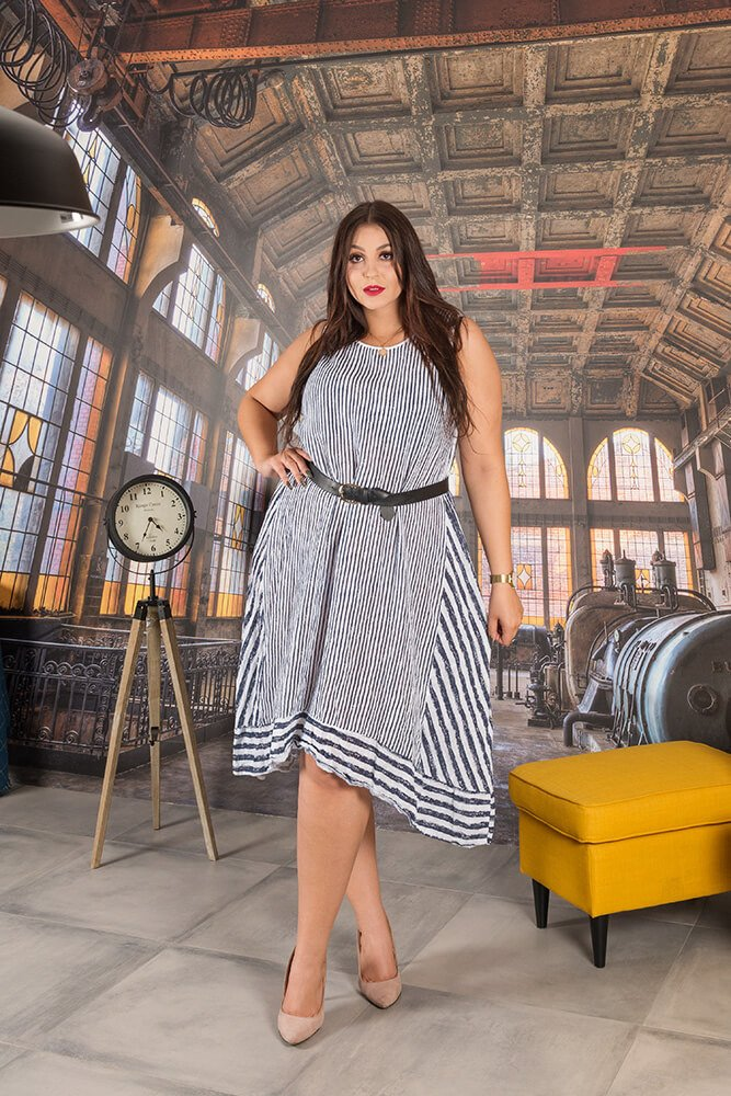 853b8102f7 Biała Sukienka RIMINI Pasy Maxi Plus Size ✅ darmowy odbiór w ...