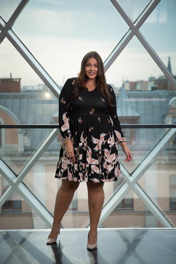 f16fad7e09 Czarna Sukienka TIFANY Plus Size ✅ darmowy odbiór w punckie i zwrot ...