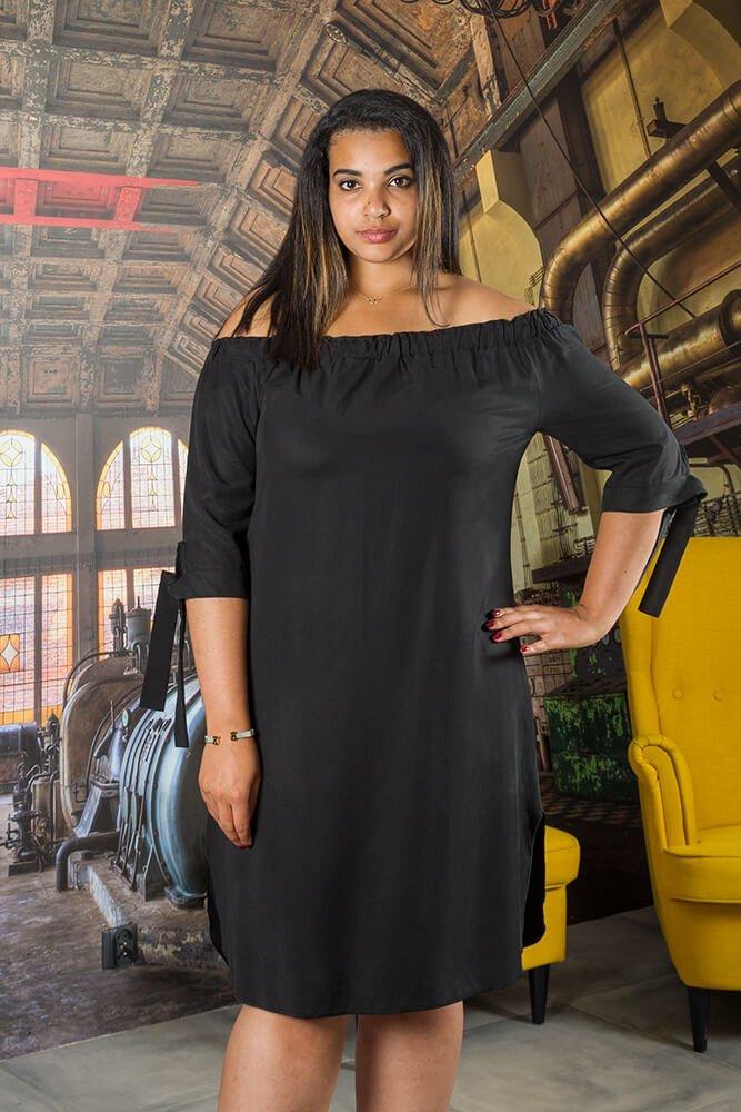 d160cd50ad Czarna Sukienka VALENCIA Hiszpanka Plus Size ✅ darmowy odbiór w ...