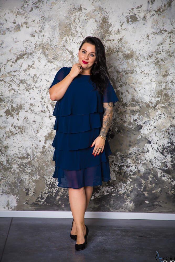 9d42fda235 Granatowa Sukienka ORINA Plus Size ✅ darmowy odbiór w punckie i ...