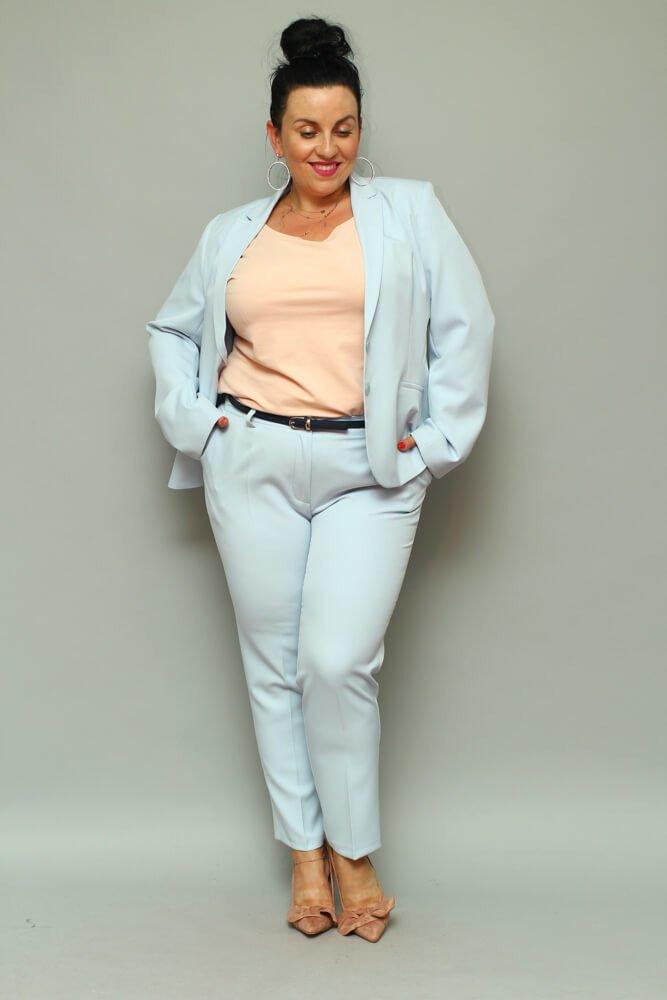 1264991d0d64d9 Plus Estela Komplet Spodnie Niebieski Darmowy ✅ Żakiet Size qI4tAf