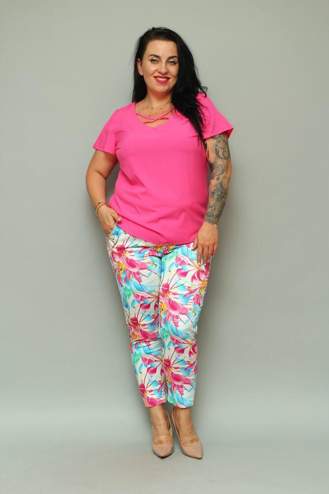 0d1466b2a2 Spodnie damskie ARCOBALENO Kwiaty Plus Size ✅ darmowy odbiór w ...