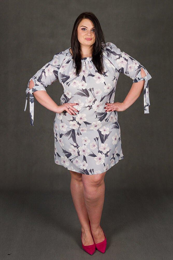 96fb0891cd Sukienka MORENA Hiszpanka Kwiaty Plus Size wzór 2 ✅ darmowy odbiór ...