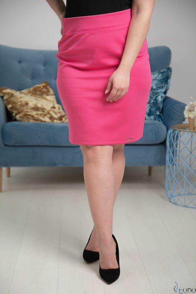 Amarantowa Spódnica PILAR Plus Size