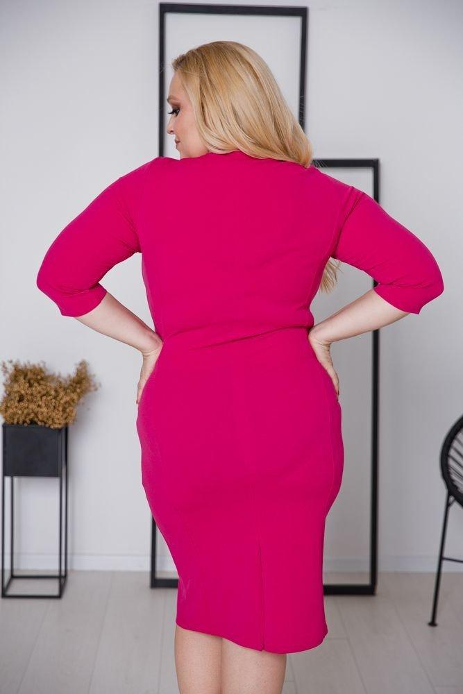 Amarantowa Sukienka DEFINA Plus Size