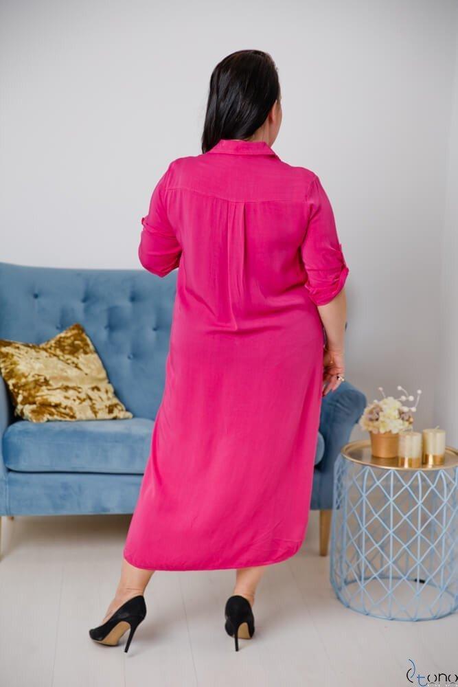 Amarantowa Sukienka SUCESIA Plus Size