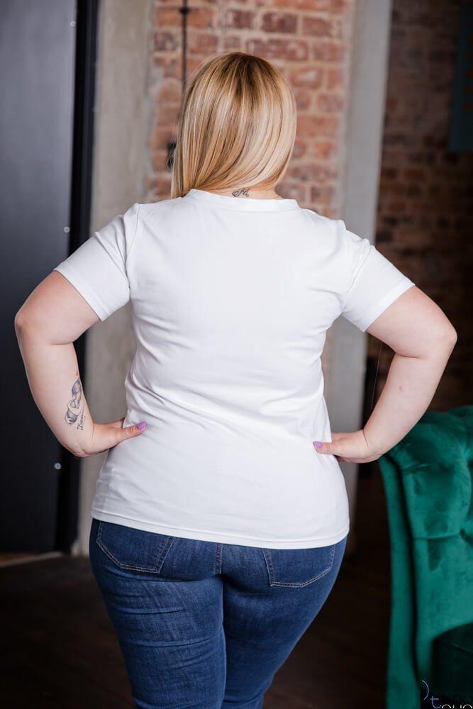 Biała Bluzka FATBULOUS Plus Size