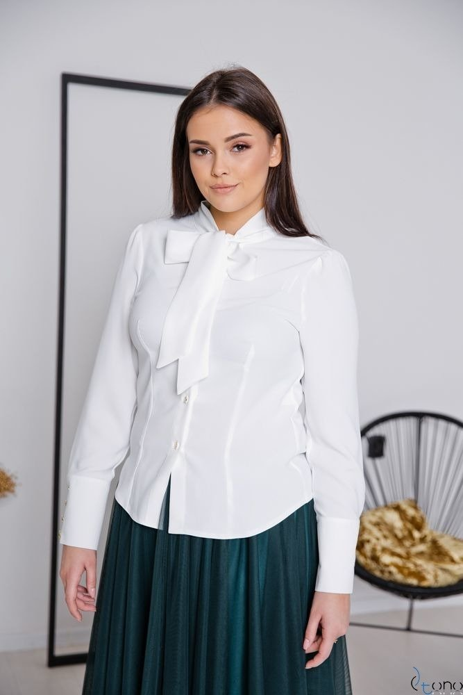 Biała Bluzka FETTI Plus Size