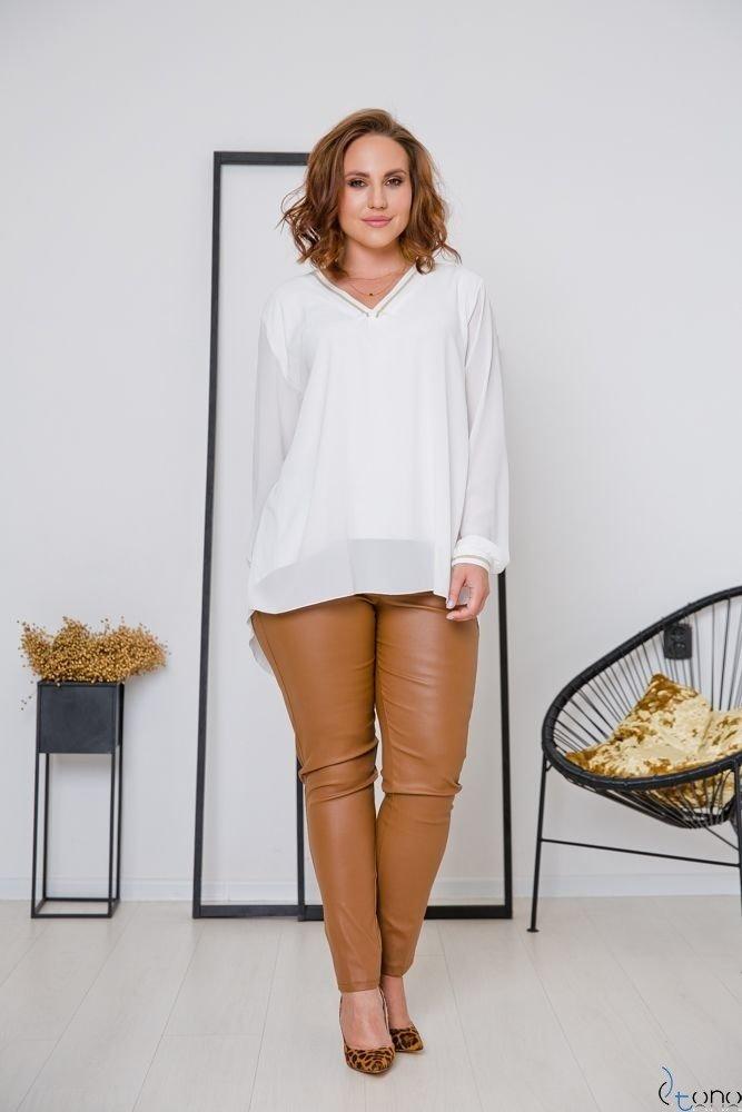 Biała Bluzka PLASIR Plus Size
