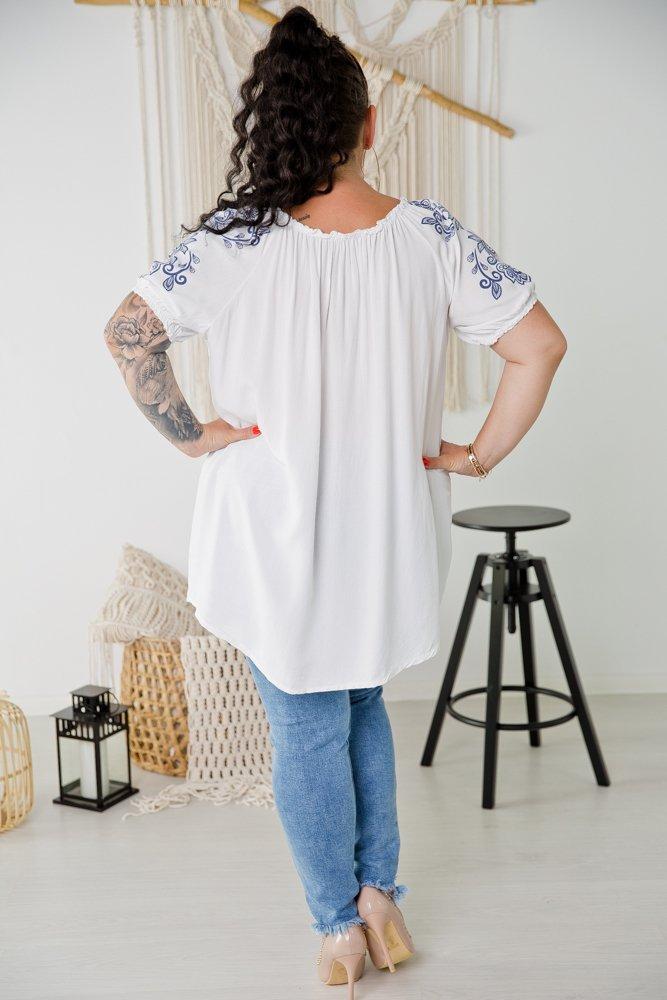 Biała Bluzka VALENTINA Plus Size Wzór 1