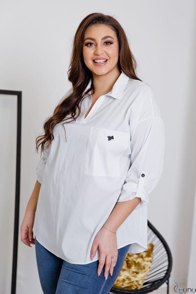 Biała Koszula PERITA Plus Size