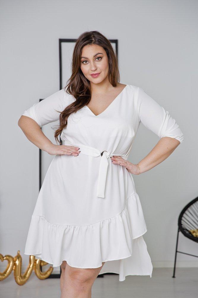 Biała Sukienka ELENA Plus Size
