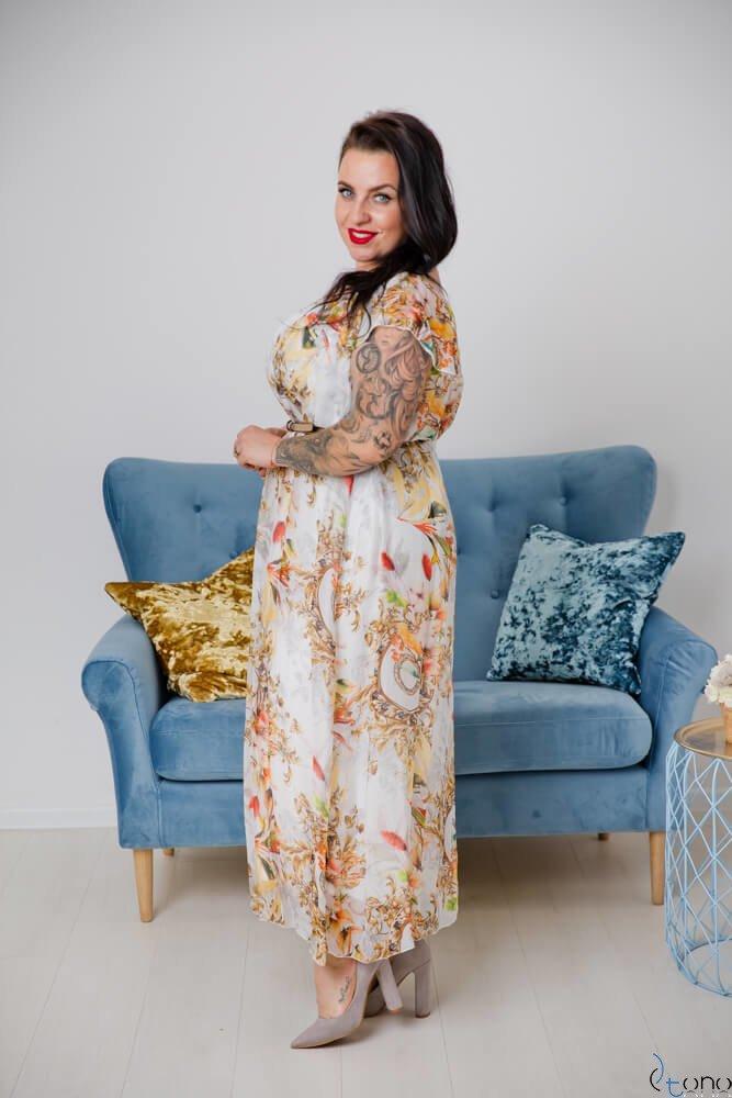 Biała Sukienka SEMMINA Plus Size