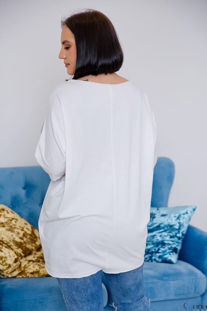 Biała Tunika BOUNCE Plus Size