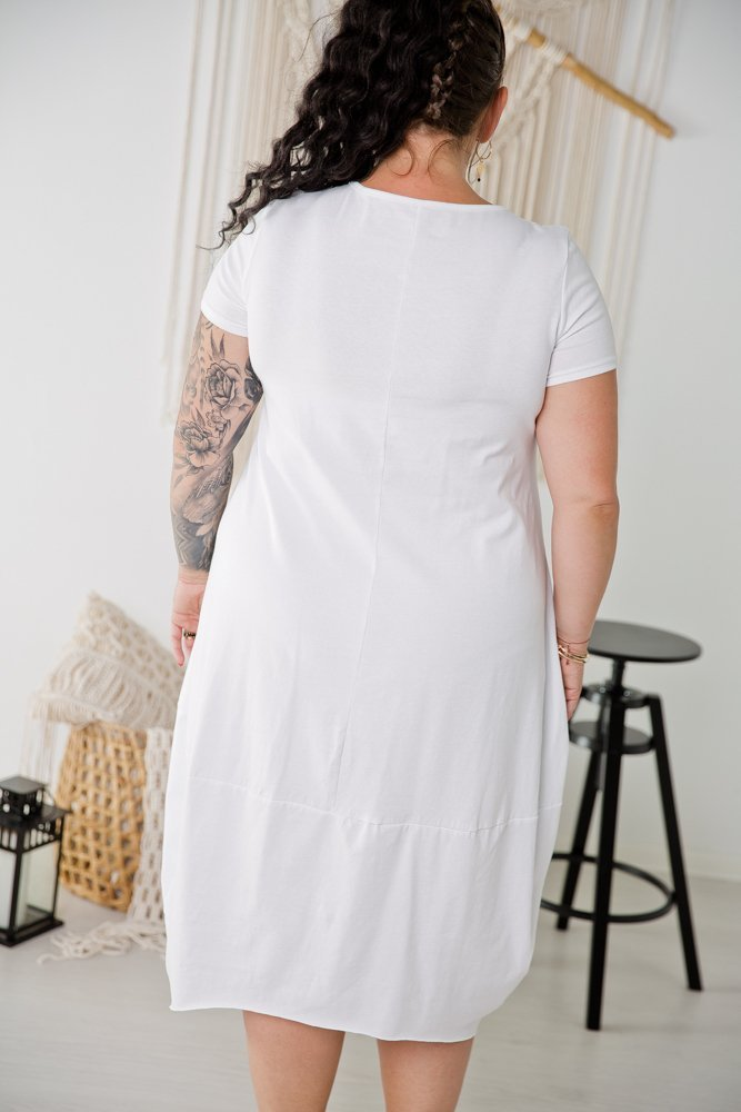 Biała Tunika SHELLY Plus Size