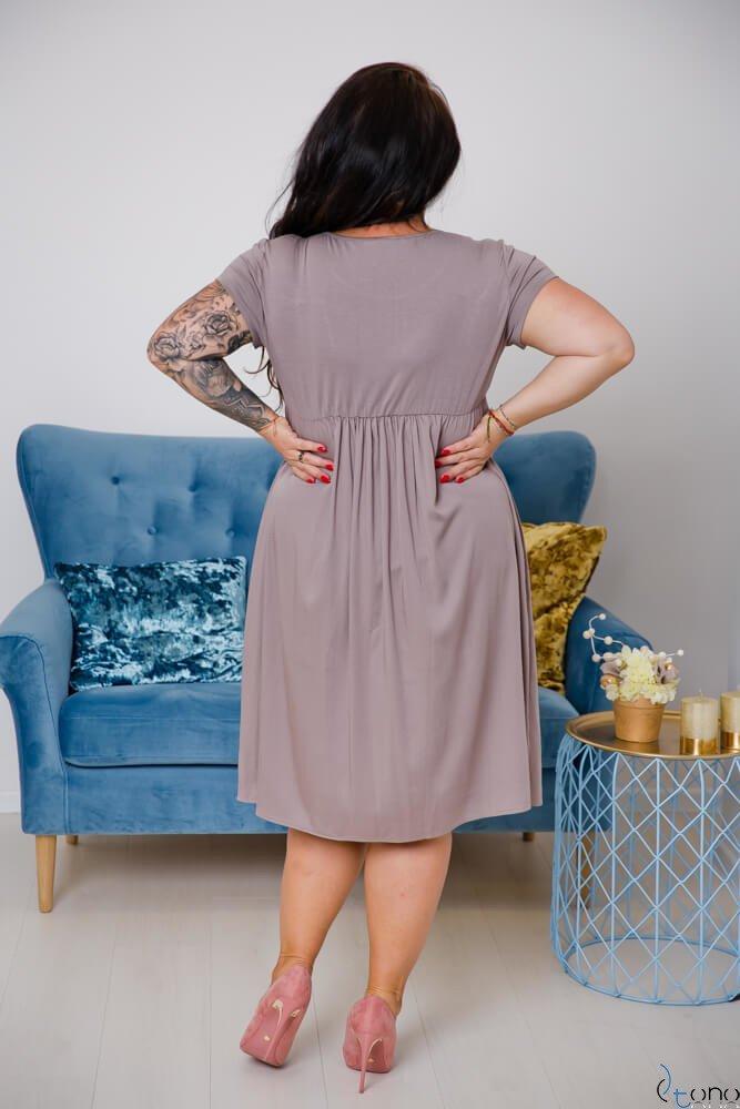 Brązowa Sukienka FASIERA Plus Size