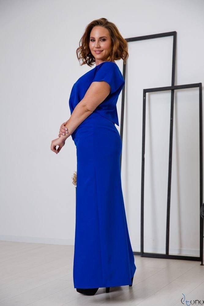 Chabrowa Sukienka PRIMMA Wizytowa Plus Size
