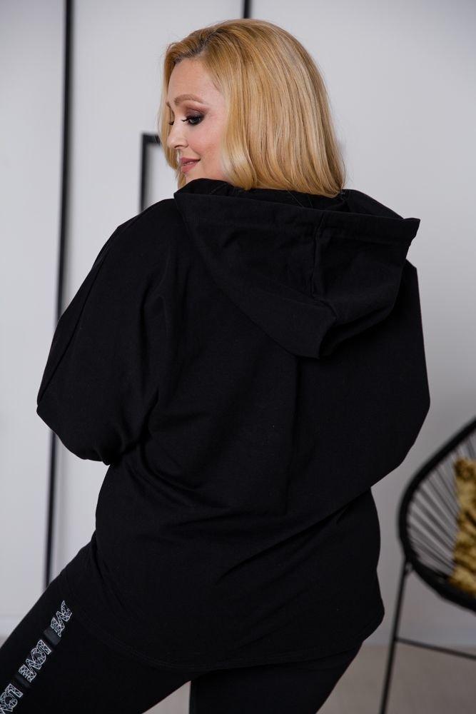 Czarna Bluza NOSTALGIA Plus Size