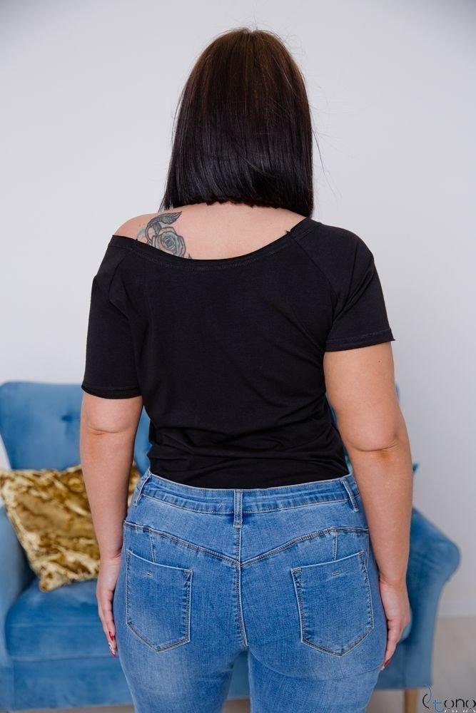 Czarna Bluzka LOVE IS LOVE Plus size T-Shirt