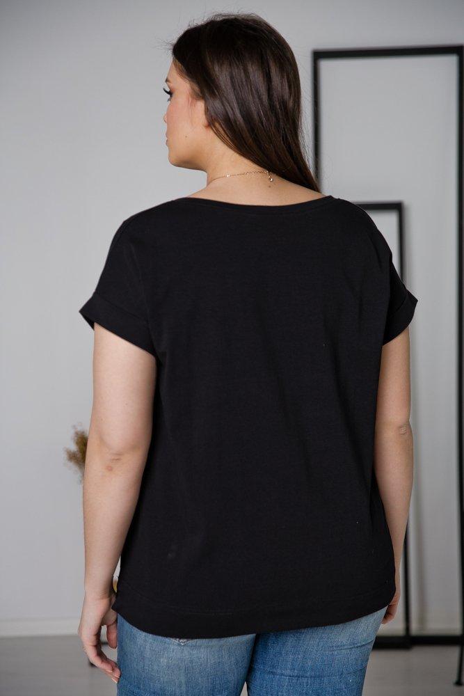 Czarna Bluzka MINNIE Plus Size