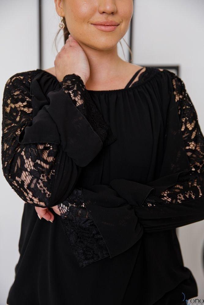 Czarna Bluzka POSEGIA Plus Size