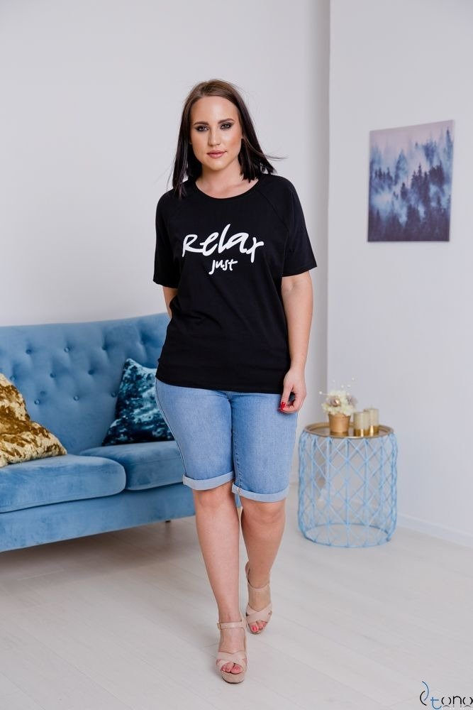 Czarna Bluzka RELAX Plus Size