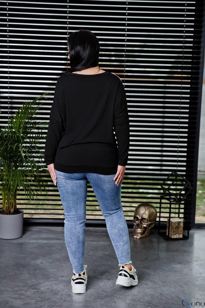 Czarna Bluzka SILY Plus Size