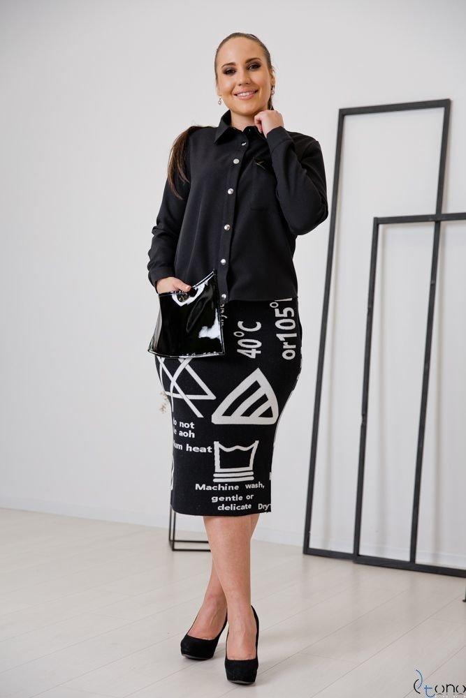 Czarna Koszula FUTURRA Plus Size