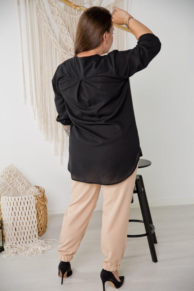 Czarna Koszula KAPRI Plus Size