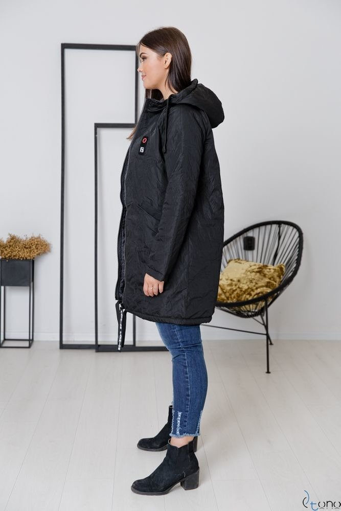 Czarna Kurtka CRESH Plus Size