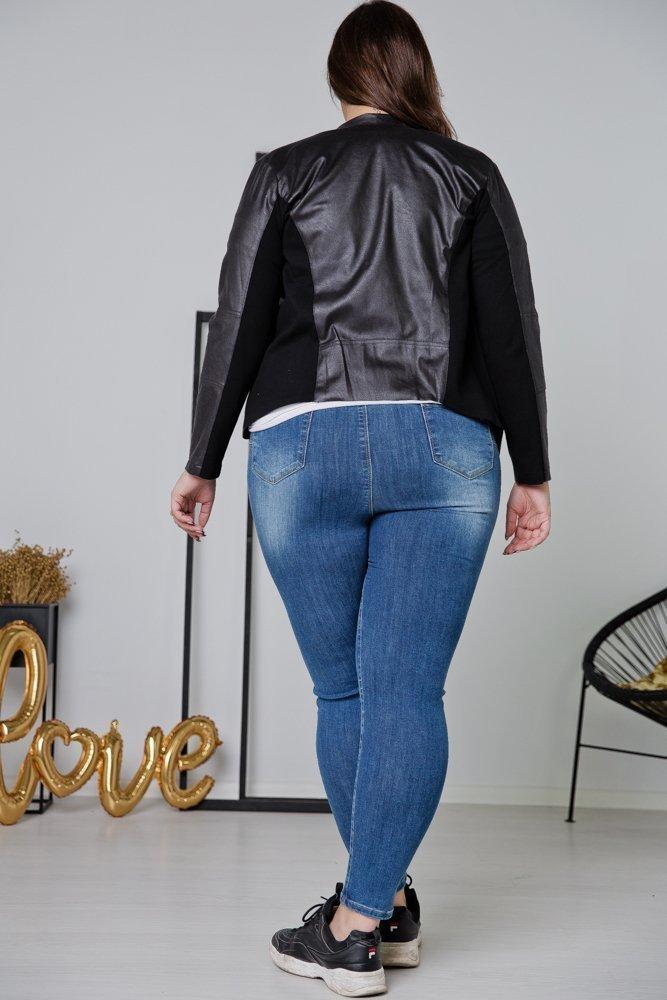 Czarna Ramoneska PRICE Plus Size