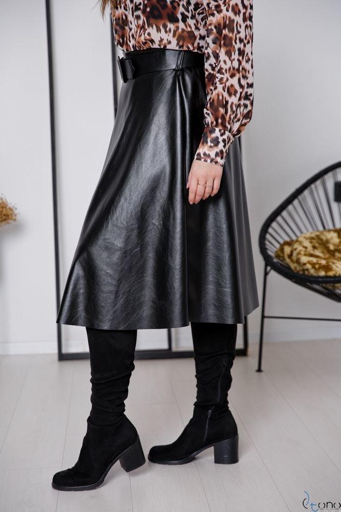 Czarna Spódnica FACRO Plus Size