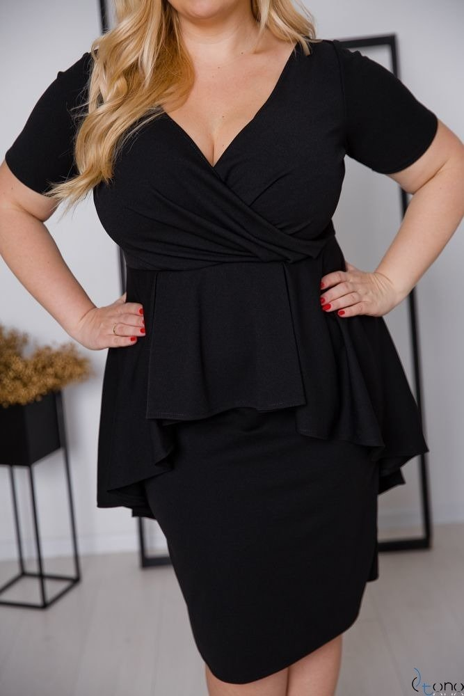 Czarna Sukienka BASKINA Plus Size