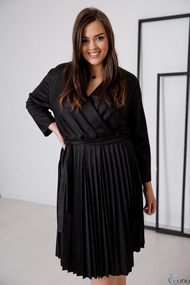 Czarna Sukienka BRILLA Plus Size