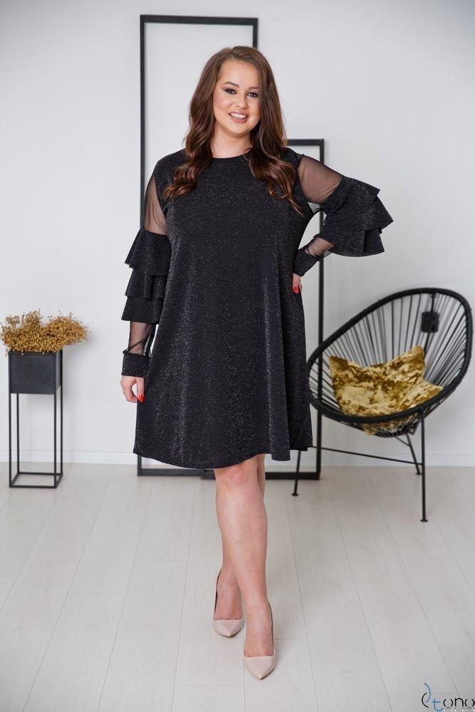 Czarna Sukienka CATIVA Plus Size