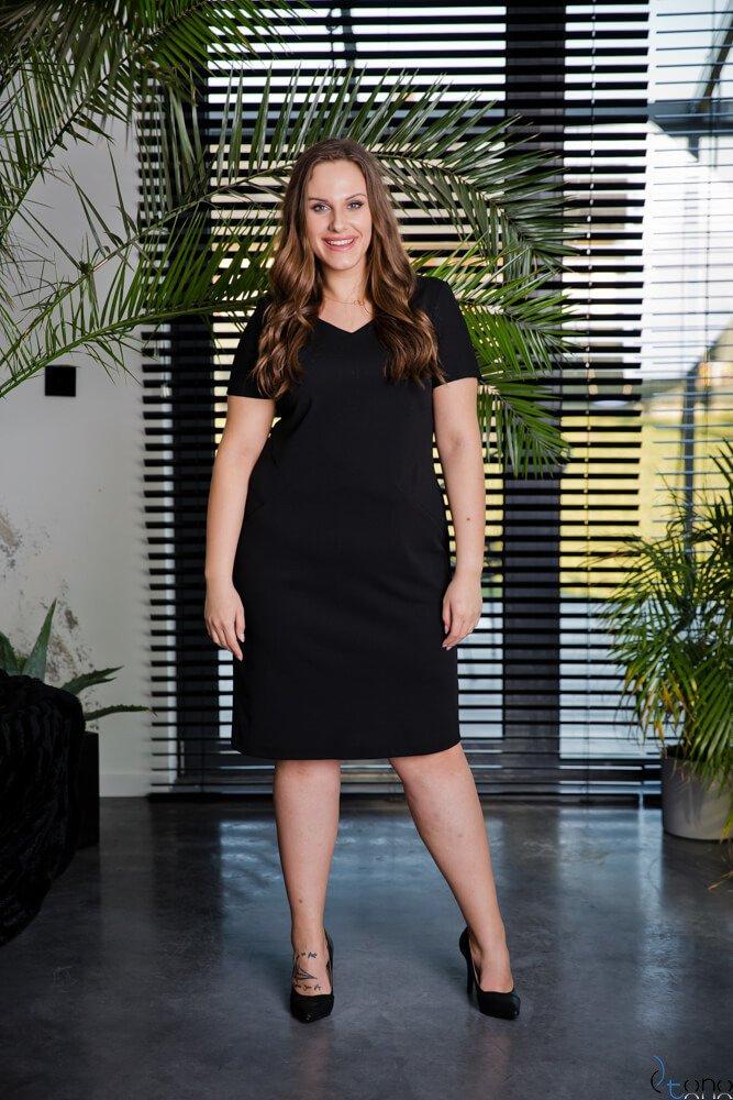 Czarna Sukienka EJMY Plus Size
